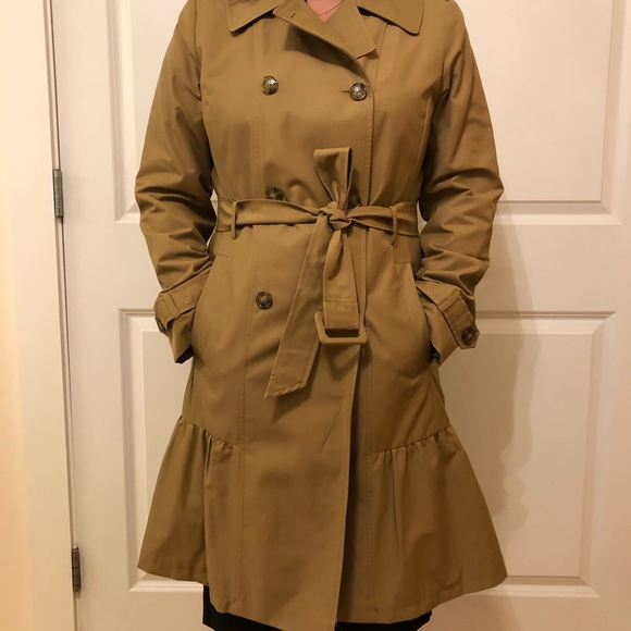 Kate Spade Long Belted Trench Coat - Medium